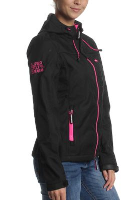 Superdry Jacke Damen HOODED WINDTREKKER Black Code Pink – Bild 1