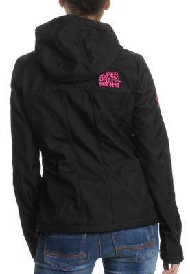Superdry Jacke Damen HOODED WINDTREKKER Black Code Pink – Bild 2