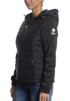 Superdry Jacke Damen SUPERDRY STORM HYBRID ZIPHOOD Black Black Gritty – Bild 1