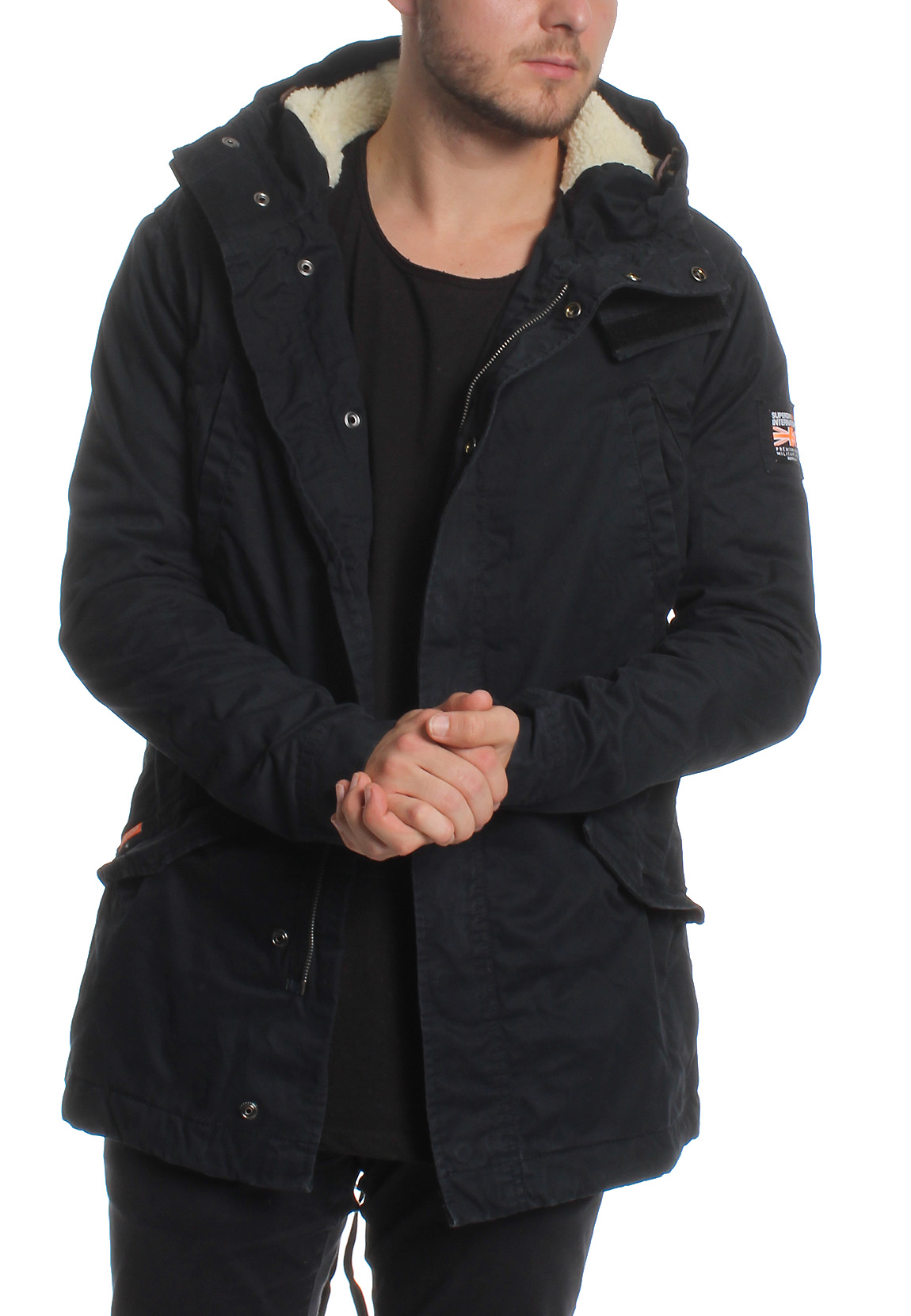 superdry parka herren winter rookie military parka dark navy herren jacken sakkos. Black Bedroom Furniture Sets. Home Design Ideas