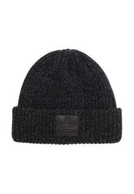 Superdry Beanie SURPLUS GOODS DOWNTOWN Black Charcoal Twist
