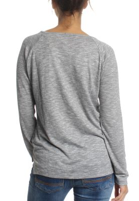Superdry Damen Longsleeve FOIL GRAPHIC KNIT TOP Lofoton Grey Mark – Bild 1