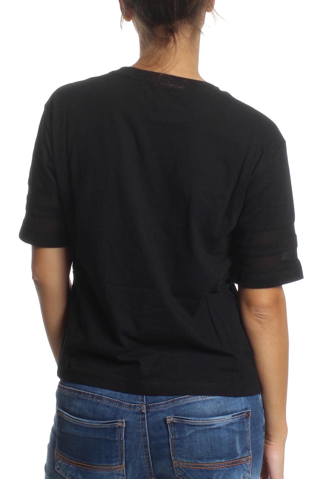 superdry damen t shirt mesh panelled crew black damen t. Black Bedroom Furniture Sets. Home Design Ideas