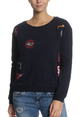 Superdry Sweatshirt Damen VARSITY BADGE CREW Captain Navy – Bild 0