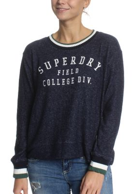Superdry Sweatshirt Damen BRENTWOOD SWEATER Captain Navy Marl – Bild 0