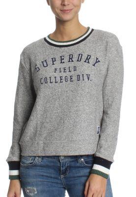 Superdry Sweatshirt Damen BRENTWOOD SWEATER Jock Grey Marl – Bild 0