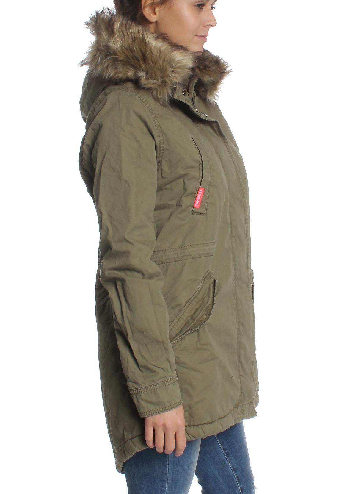 superdry parka damen heavy weather rookie fishtail deepest army ebay