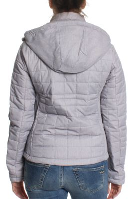 Superdry Jacke Damen HOODED BOX QUILT FUJI Grey Cloud Marl – Bild 2