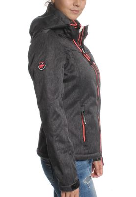 Superdry Jacke Damen HOODED SHERPA WINDTREKKER Black Grit Candy Pink – Bild 2
