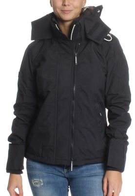 Superdry Jacke Damen POP ZIP HOOD ARCTIC WINDCHEATER Eclipse Navy Ecru – Bild 0