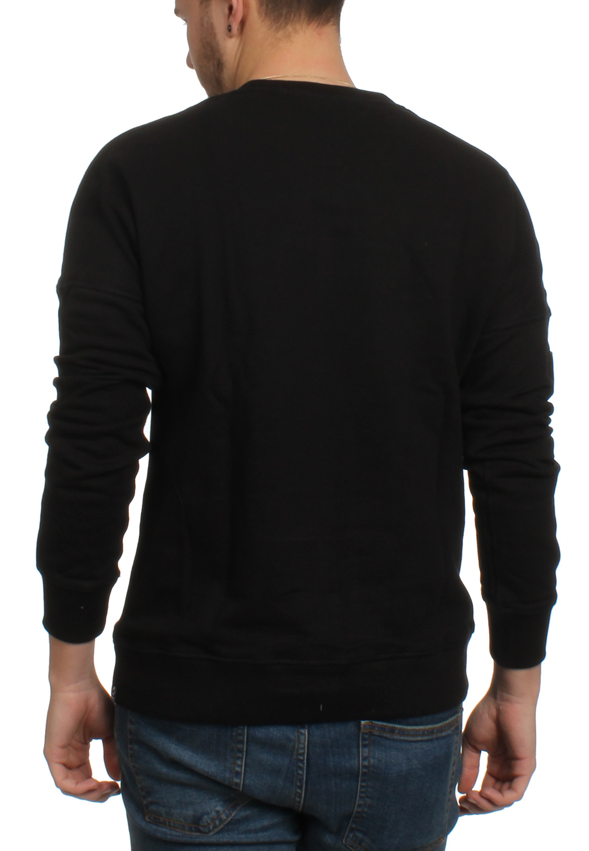 superdry herren sweatshirt surplus goods crew jet black. Black Bedroom Furniture Sets. Home Design Ideas
