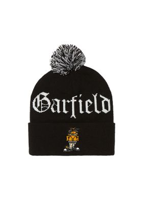 Cayler & Sons Beanie LEFT SIDE GARFIELD POM POM black white Schwarz – Bild 0