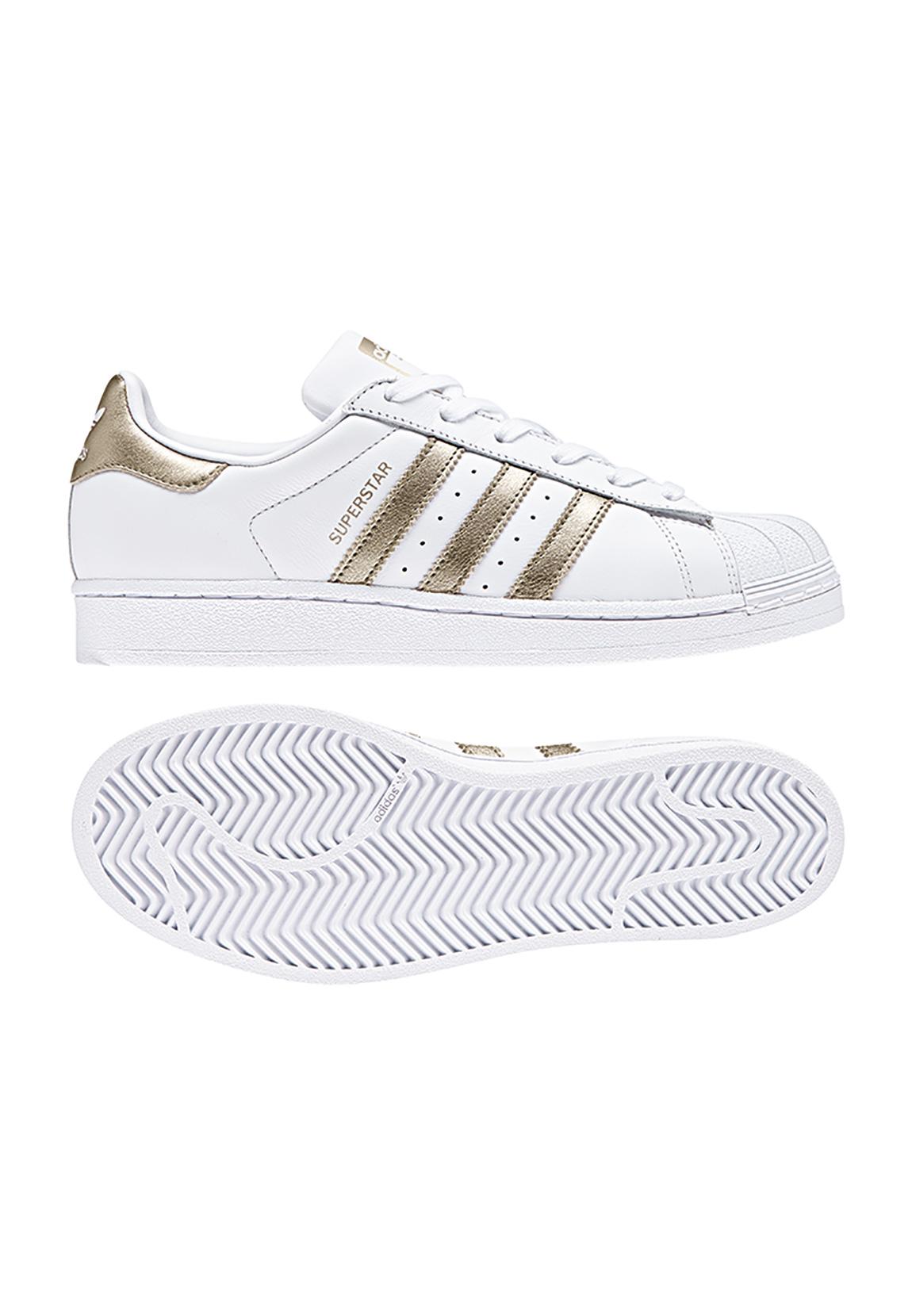 Dettagli su Sneaker ADIDAS Donna Superstar W cg5463 BIANCO ORO mostra il titolo originale