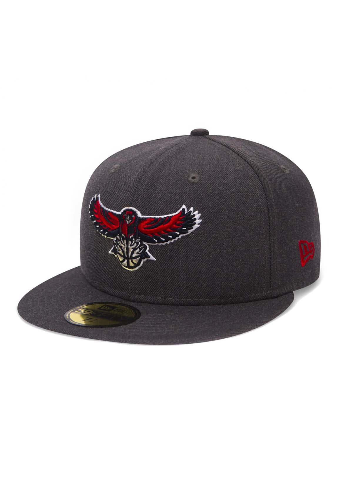 New Era NBA Heather 59Fifty Cap Atlanta Hawks Grey  14e8b830360