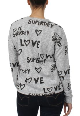 Superdry Sweatshirt Damen AOP BURNOUT CREW Austin Grey – Bild 2