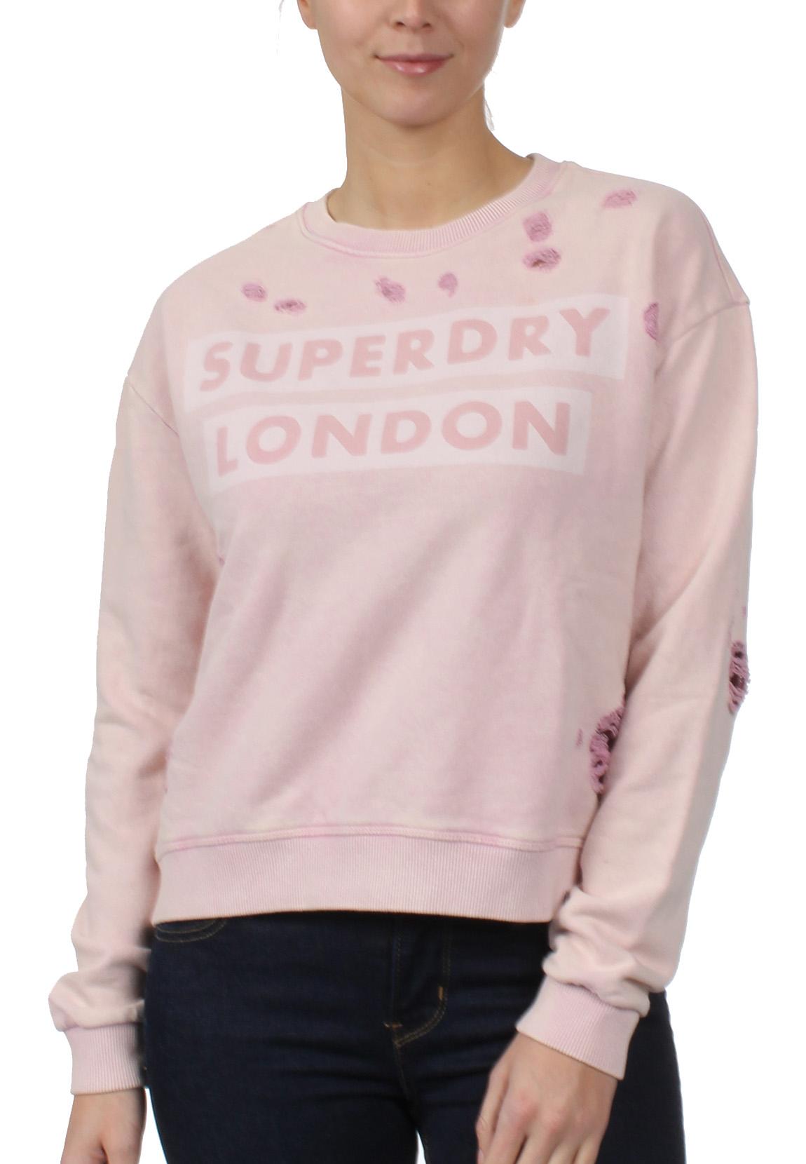 the best attitude f144d 7d3b3 Superdry Sweatshirt Damen DISTRESS BOXY SWEAT Lex Violet