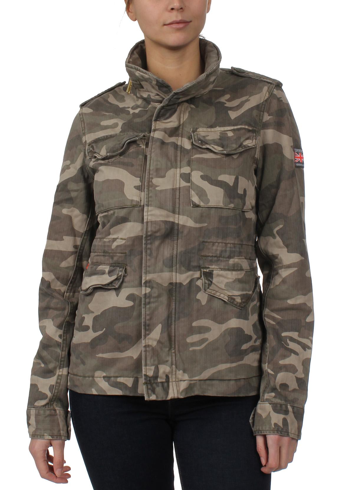 superdry jacke damen rookie classic military jacket. Black Bedroom Furniture Sets. Home Design Ideas