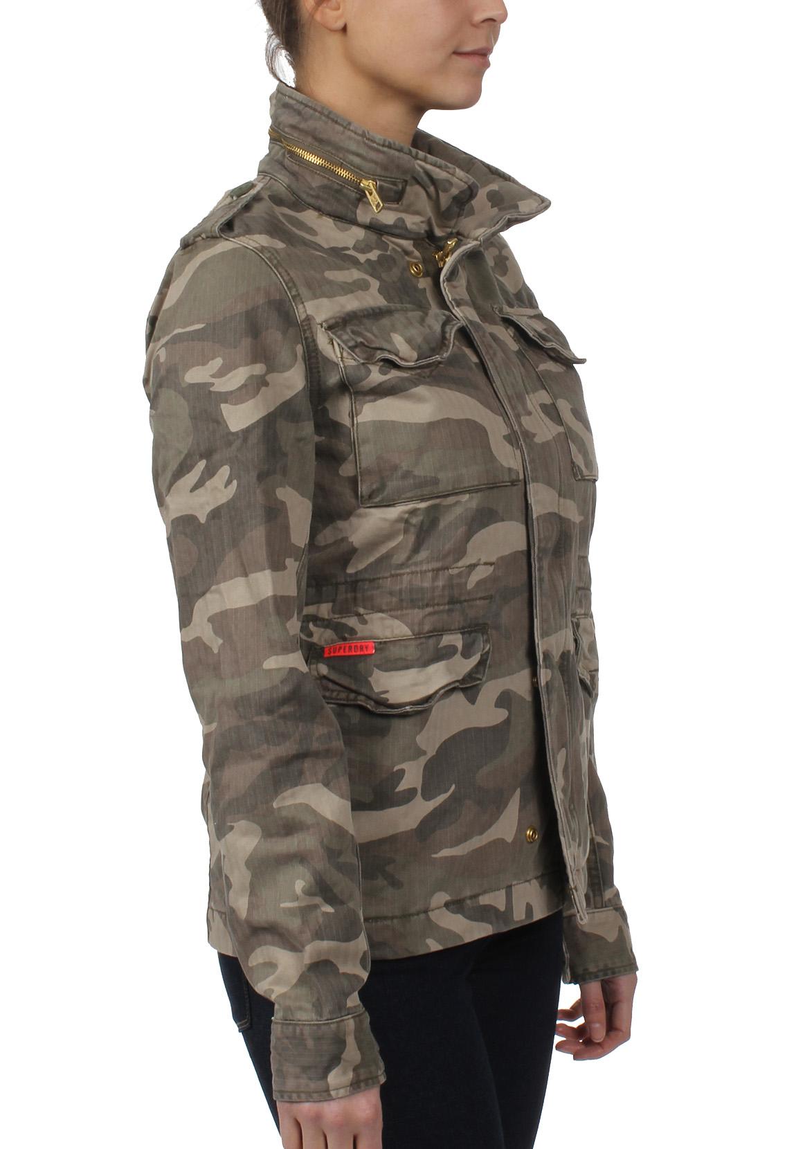 superdry jacke damen rookie classic military jacket antique camo damen jacken m ntel. Black Bedroom Furniture Sets. Home Design Ideas