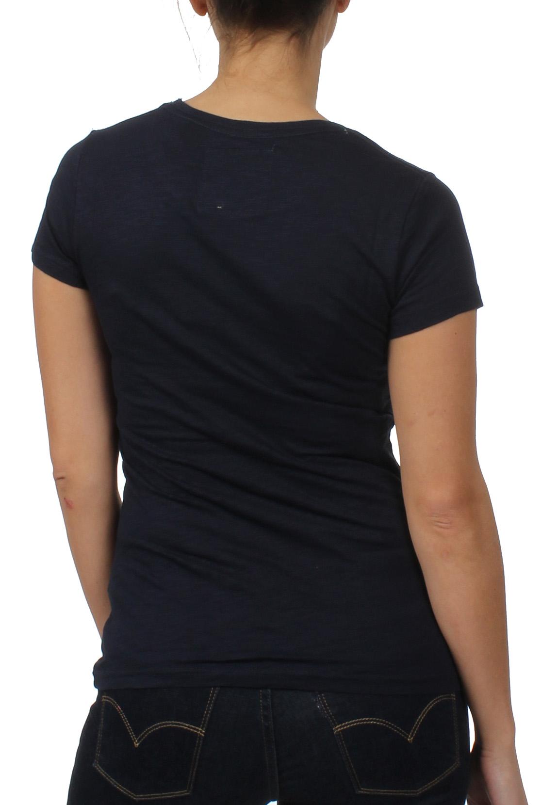 superdry damen t shirt vintage logo ombre marina navy ebay. Black Bedroom Furniture Sets. Home Design Ideas
