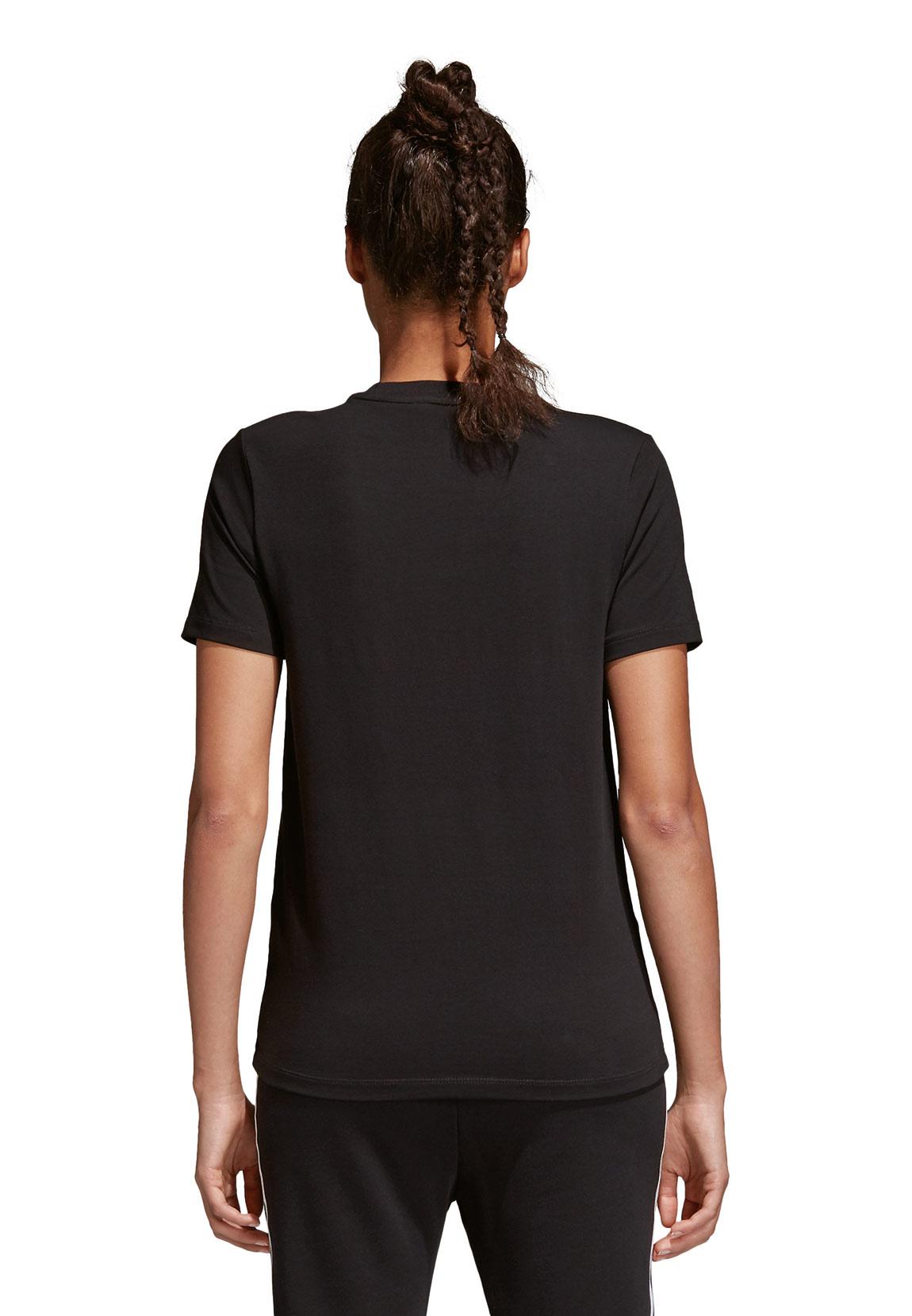 adidas originals damen t shirt trefoil tee cv9888 schwarz damen t shirt polos. Black Bedroom Furniture Sets. Home Design Ideas