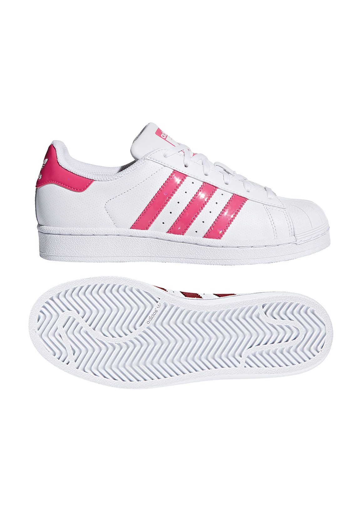superstars adidas damen pink weiss