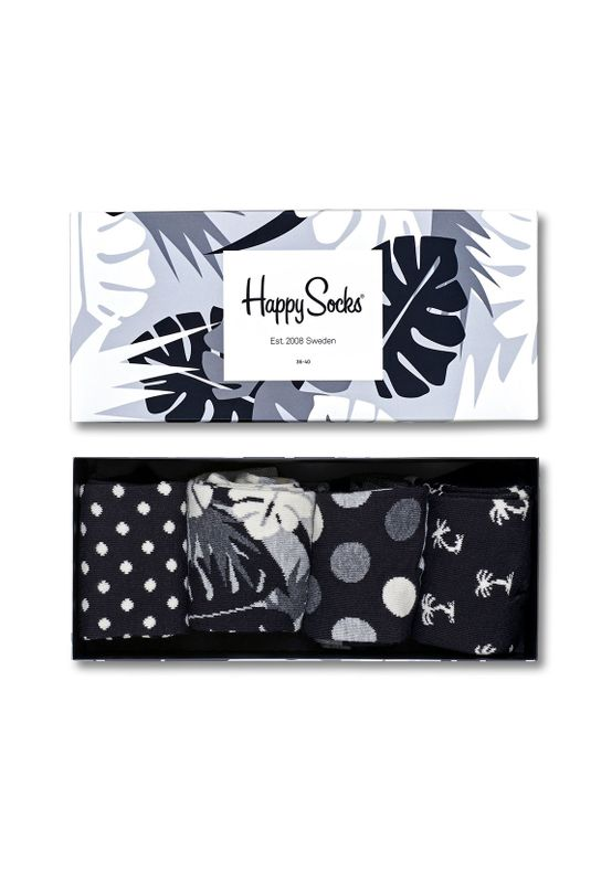 Happy Socks Geschenkbox BLACK WHITE GIFT BOX XBLW09-9002 Schwarz