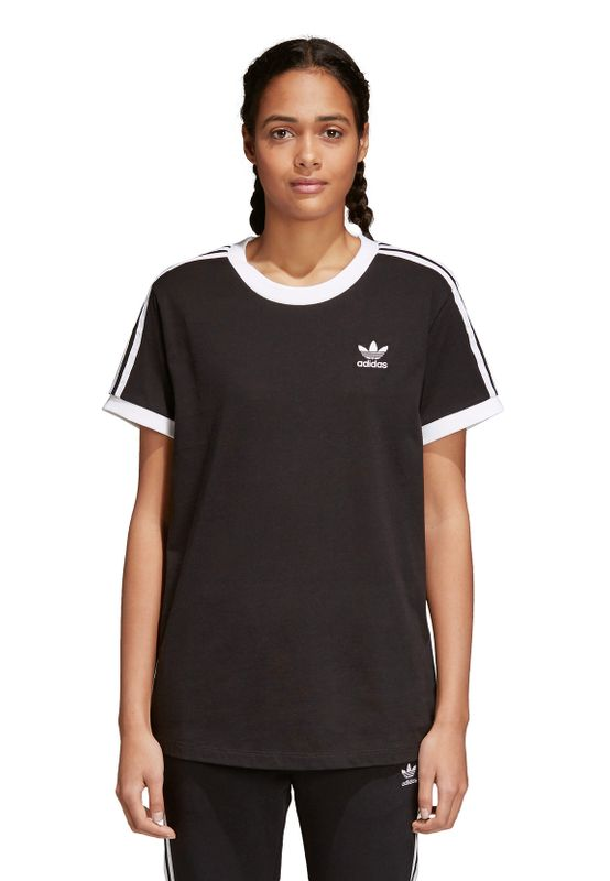 Adidas Originals Damen T-Shirt 3 STRIPES TEE CY4751 Schwarz – Bild 1