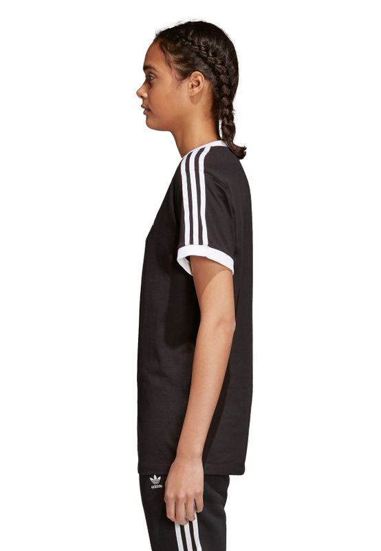 Adidas Originals Damen T-Shirt 3 STRIPES TEE CY4751 Schwarz – Bild 2