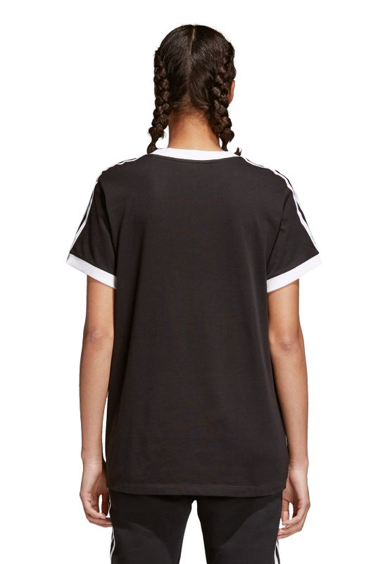 Adidas Originals Damen T-Shirt 3 STRIPES TEE CY4751 Schwarz – Bild 3