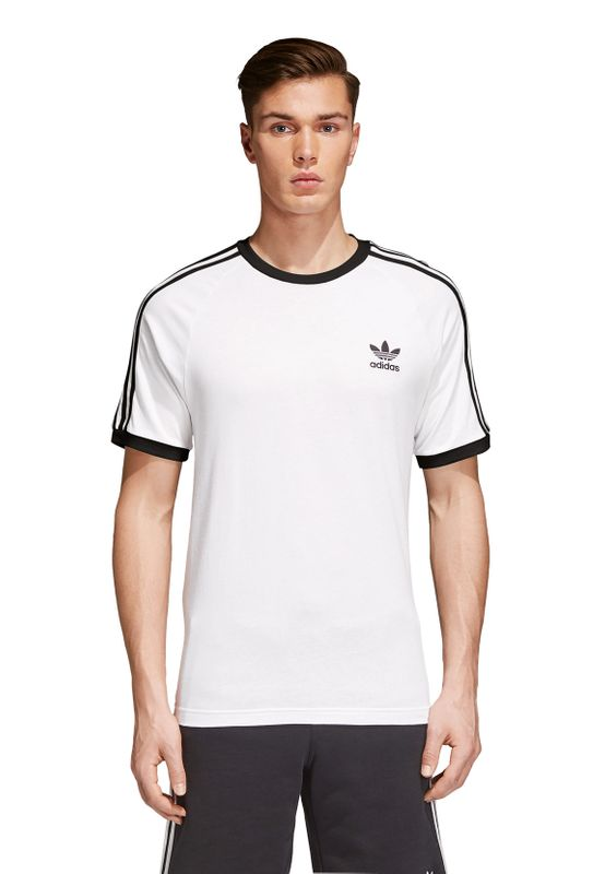 Adidas Originals Herren T-Shirt 3 STRIPES TEE CW1203 Weiß – Bild 1