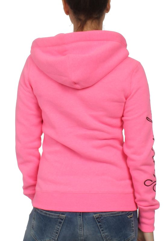 Superdry Zipper Damen APPLIQUE ZIPHOOD Fluro Pink – Bild 1