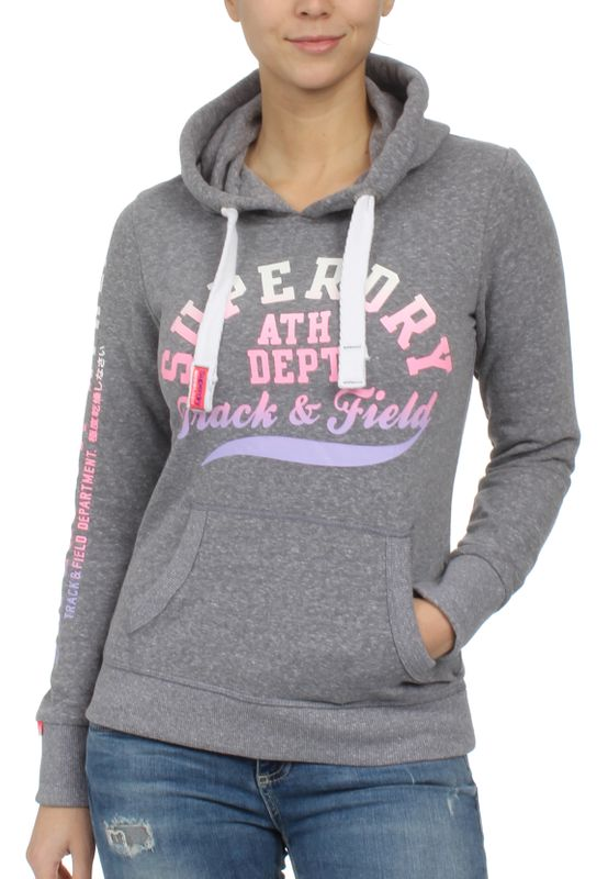 Superdry Sweater Damen TRACK & FIELD LITE Surfs Up Grey Snowy – Bild 0