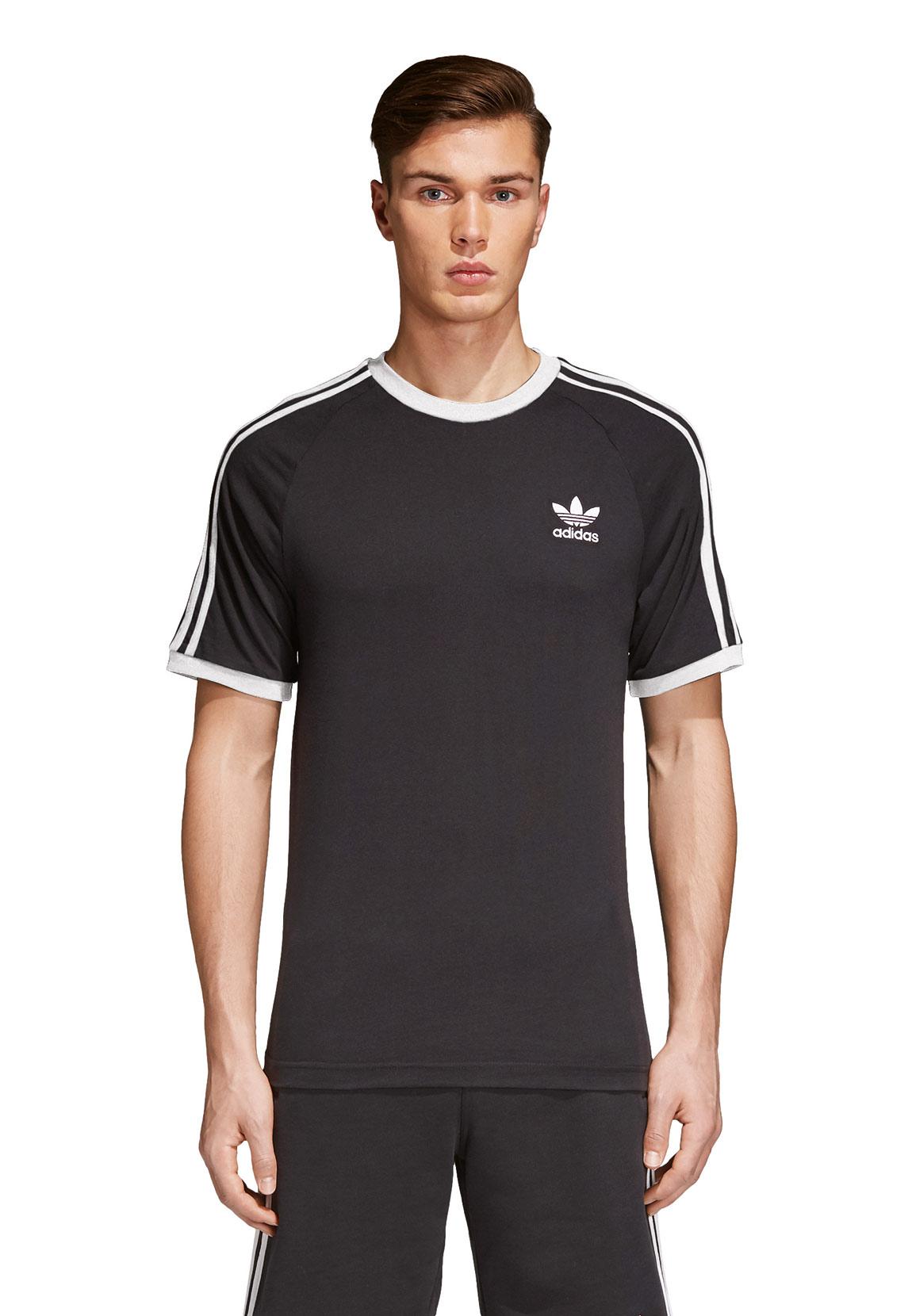 Heren Strepen Tee Zwart 3 T shirt Cw1202 Originals Adidas zjSpLGqVUM