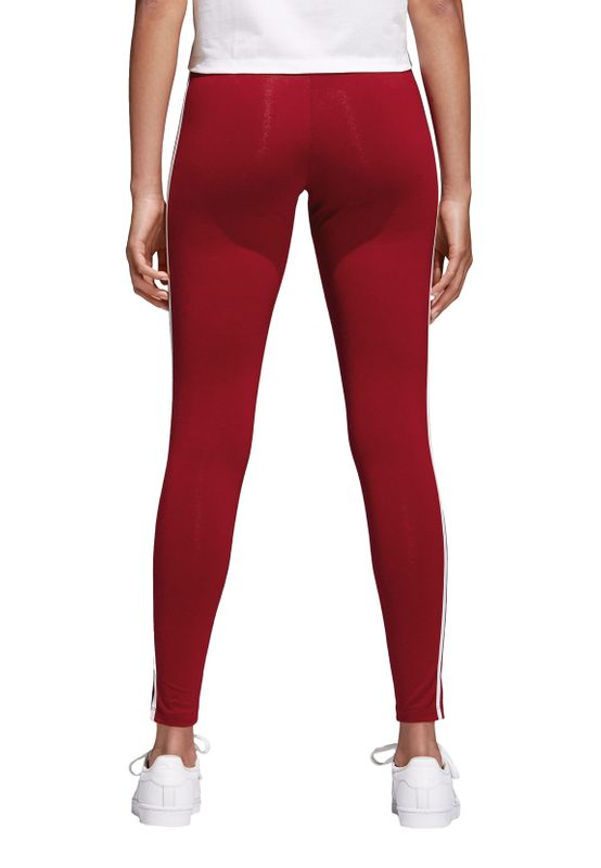 Adidas Originals Damen Leggings 3STR TIGHT CE2442 Dunkelrot – Bild 3