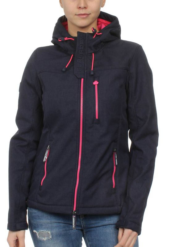 Superdry Jacke Damen HOODED WINDTREKKER Dark Navy Marl Hot Pink – Bild 0