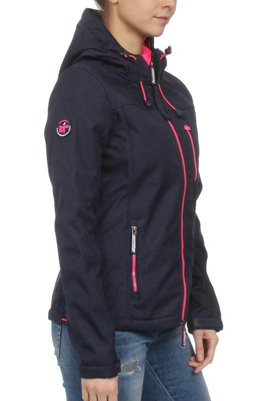 Superdry Jacke Damen HOODED WINDTREKKER Dark Navy Marl Hot Pink – Bild 1