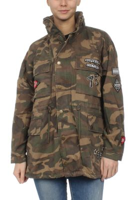 Superdry Jacke Damen ROOKIE OVERSIZED JACKET Punk Camo