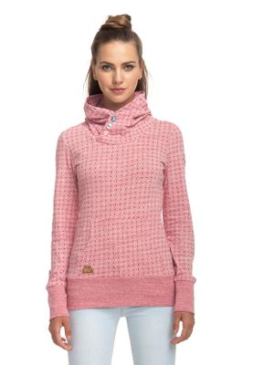 Ragwear Sweater Damen CHELSEA DOTS 1811-30012 Rot Red Melange 4001