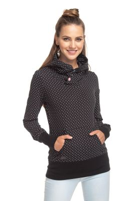 Ragwear Sweater Damen CHELSEA DOTS 1811-30012 Schwarz Black 1010