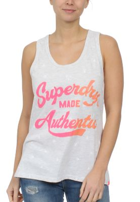 Superdry Damen Tank MADE AUTHENTIC AOP ENTRY VEST Ice Marl – Bild 0