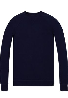 Scotch & Soda Basic Crewneck Sweater Men 142800 Denim Blue 0155 Blau