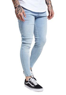 SikSilk Herren Jeans SKINNY DENIM SS-13003 Hellblau Light Denim – Bild 2