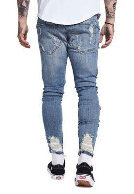 SikSilk Herren Jeans OVERWORKED LOWRISE DENIMS SS-12227 Hellblau Stone Blue – Bild 3