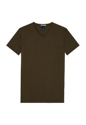Scotch & Soda T-Shirt Men CLASSIC V Neck Tee 142640 Military 0360 Khaki