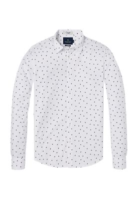 Scotch & Soda Hemd Men ALL OVER PRINT 142481 Combo A 0217 Weiß