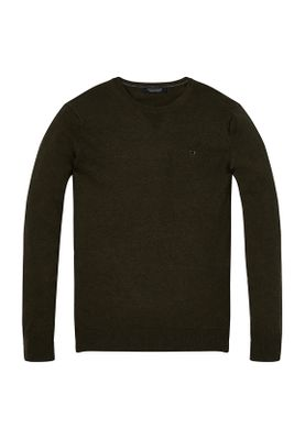Scotch & Soda Pullover Men CLASSIC Cotton Melange Crewneck 142750 Army Melange 0679 Khaki