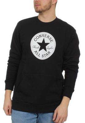 Converse Herren Sweater CHUCK PATCH GRAPHIC CREW 10005825 001 Black – Bild 0