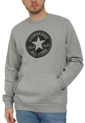 Converse Herren Sweater CHUCK PATCH GRAPHIC CREW 10005825 035 Grey – Bild 0