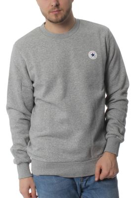 Converse Herren Sweater CORE CREW 10004629 035 Grey – Bild 0