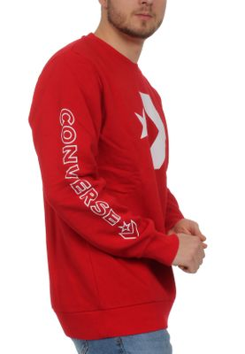 Converse Herren Sweater STAR CHEVRON GRAPHIC CREW 10006434 603 Red – Bild 1